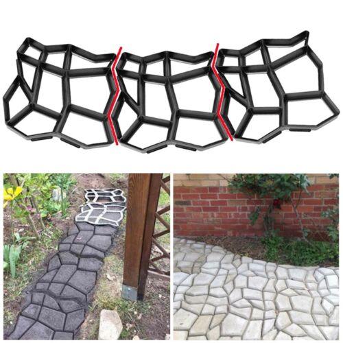 Stone Paving Mold Concrete Stepping Walkway Paver DIY 9 Grids Driveway Gardens