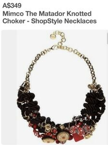 Rare-Mimco-The-Matador-Knotted-349-Necklace-Choker-Brand-New-Dust-Bag