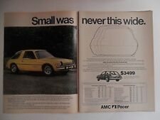 1976 Print Ad AMC Pacer Car Automobile ~ Small Was Never This Wide