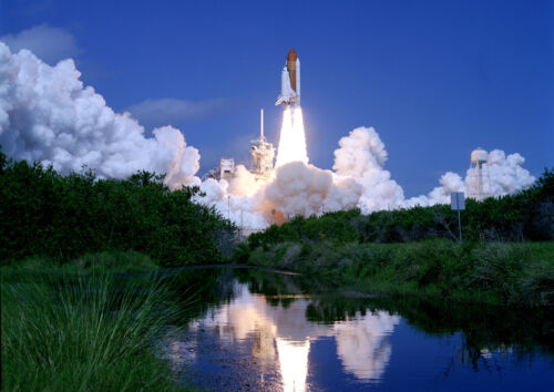 A4 NASA Space Shuttle Atlantis Final Launch *DISCOUNTED OF  A3 Poster Print