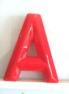 Theater-Marquee-Letters-6-034-Tall-Red-Snap-Lok-Plastic-Letters