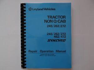 leyland non q cab tractor workshop repair manual 245 262 272 ebay rh ebay co uk Case IH Tractors Case IH Tractors