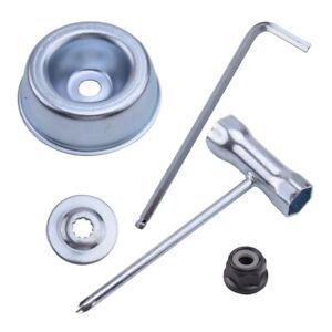 Set//For STIHL Strimmer Brushcutter Metal Blade Fixing Kit Blade Fixing Tool Part