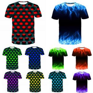 Stylish-Men-039-S-Funny-Skull-3D-Print-T-Shirt-Casual-Fashion-Short-Sleeve-Tops-Tee