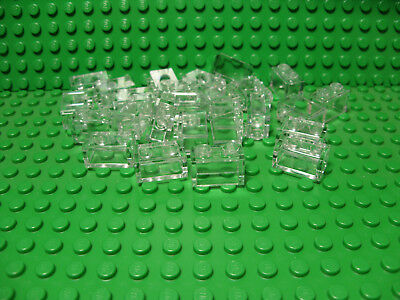 LEGO LOT OF 25 NEW TRANS-BRIGHT GREEN 1 X 2 BRICKS BUILDING BLOCKS TRANSPARENT