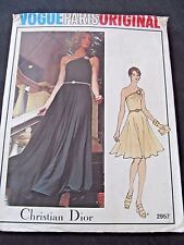 VINTAGE VOGUE PARIS ORIGINAL PATTERN CHRISTIAN DIOR 2957 SZ 14 EVENING DRESS