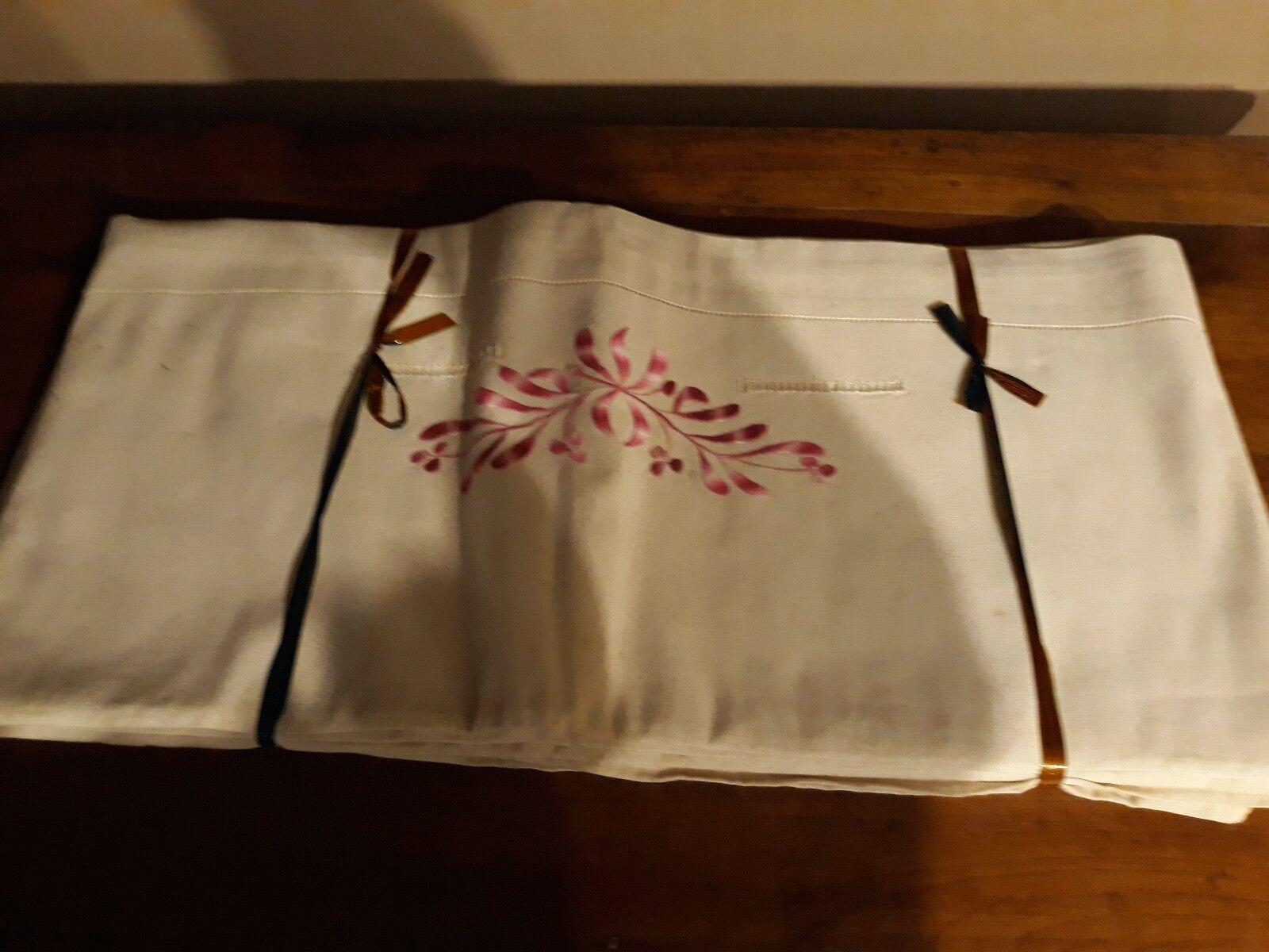 2 DRAP Parure de lit  en Métis  brodée  Neuf 280 cm x 210 cm jour venise