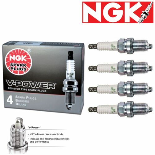 4 Genuine NGK V-Power Spark Plugs for 1966-1976 BMW 2002 2.0L L4 Set