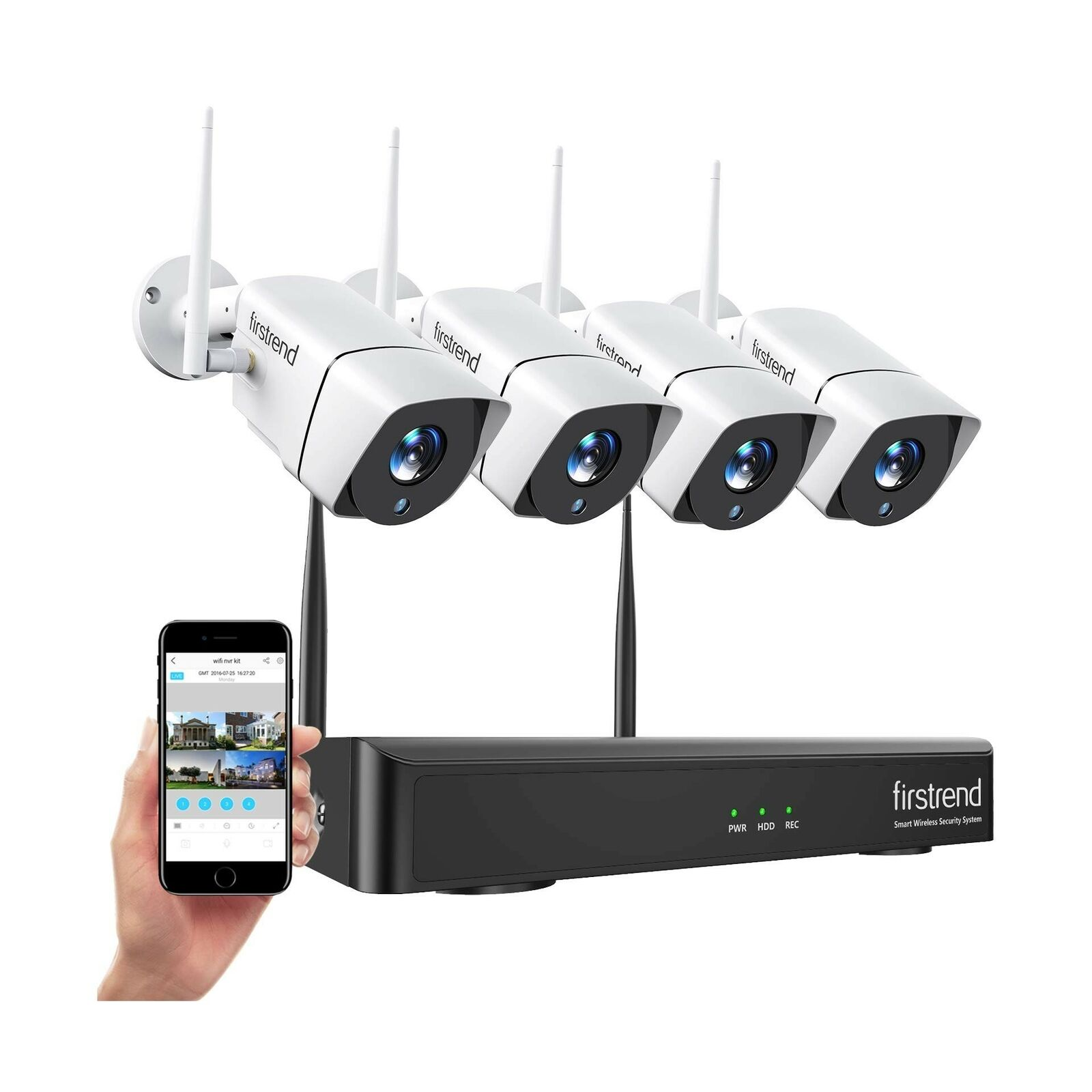 [Newest] Wireless Security Camera System, Firstrend 8CH 1080P Wireless NVR Sy...