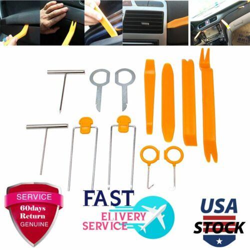 12Pcs Plastic Car Radio Door Clip Panel Trim Dash Audio Removal Pry Kit Tool Set