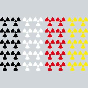 10 Sticker 3cm Tattoo Radioactive Radiation Xray Symbol Decor Film