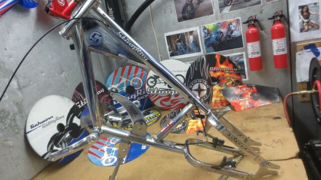Schwinn Stingray, Chrome/Blue 3 Speed Model Chopper Bicycle, Frame, Plus  Parts