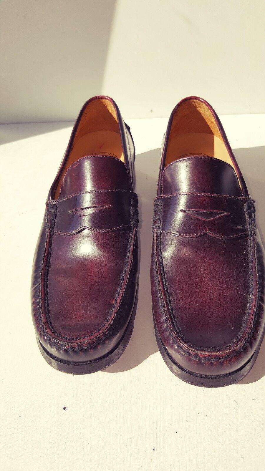 RockSport Burgundy Pelle Round-Toe Loafers 7M