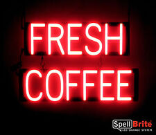 SpellBrite Ultra-Bright FRESH COFFEE Sign Neon look LED performance