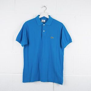Vintage-LACOSTE-Blue-Polo-Shirt-Size-Womens-Small-3-R6128