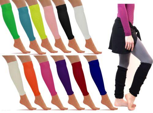 Womens Girls Plain Leg Warmers Ladies Knee Socks Fancy Dress Accessory Winter