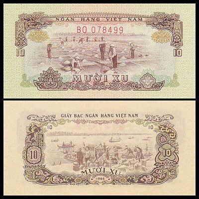 A-UNC P-40 ND South Vietnam Viet Nam 1 Dong 1966 Banknotes Original