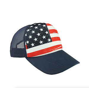 453335e8383 Image is loading USA-American-Flag-Trucker-Cap-United-States-Patriotic-