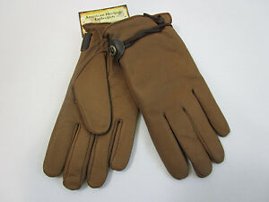 AMERICAN-HERITAGE-mens-GENUINE-BUFFALO-leather-gloves-M-NEW-NWT