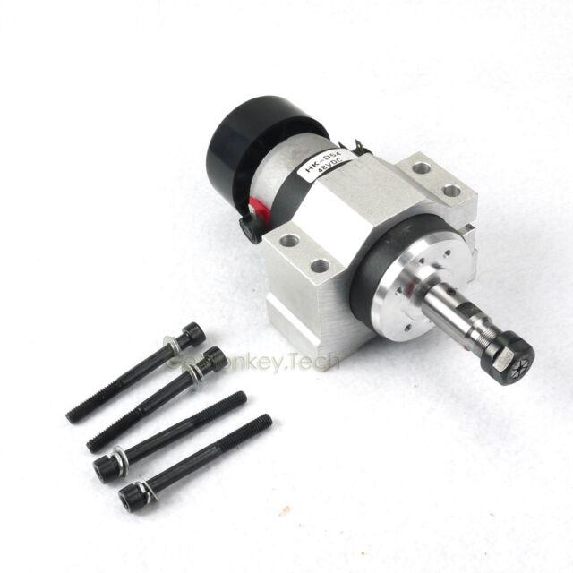 CNC 300W Spindle Motor ER11 & Mount For Engraving Carving Milling Grinding 600mN