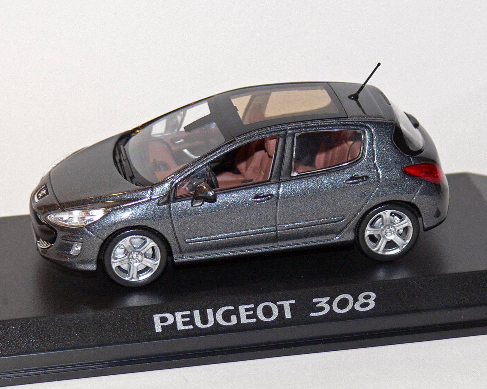 Peugeot 308 Grey Metallic, 1 43, Norev