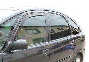Citroen-Xsara-Picasso-Front-wind-deflectors-2pc-set-Internal-fit-TINTED-HEKO
