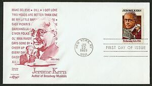 #2110 22c Jerome Kern, Artmaster FDC Cualquier 4=