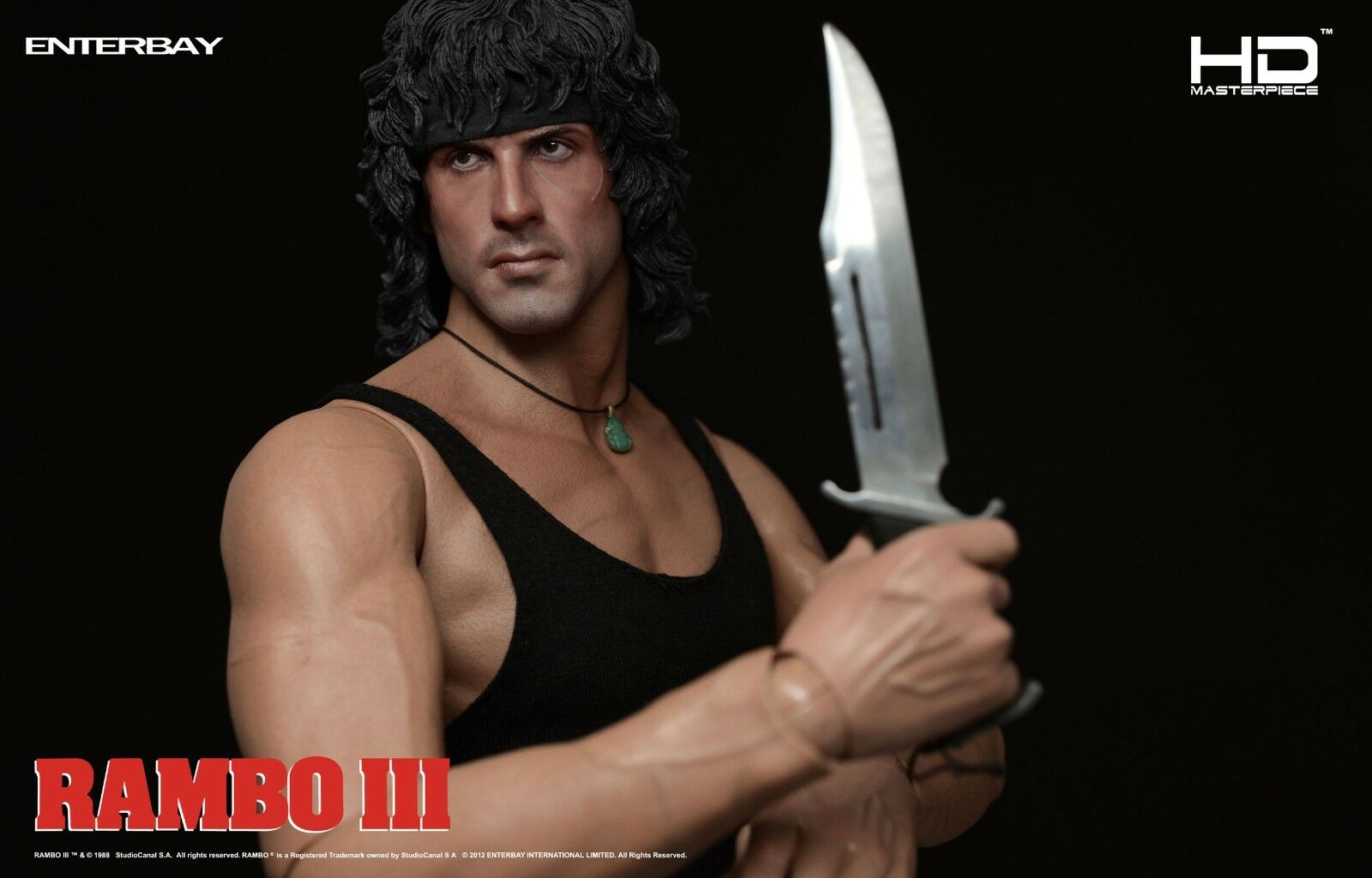 ENTERBAY 1 4th Scale HD Masterpiece Rambo III III III Collectible Figure 1b6567