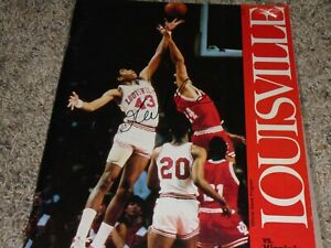 Louisville Cardinals Basketball Pervis Ellison Signed 1987 Program
