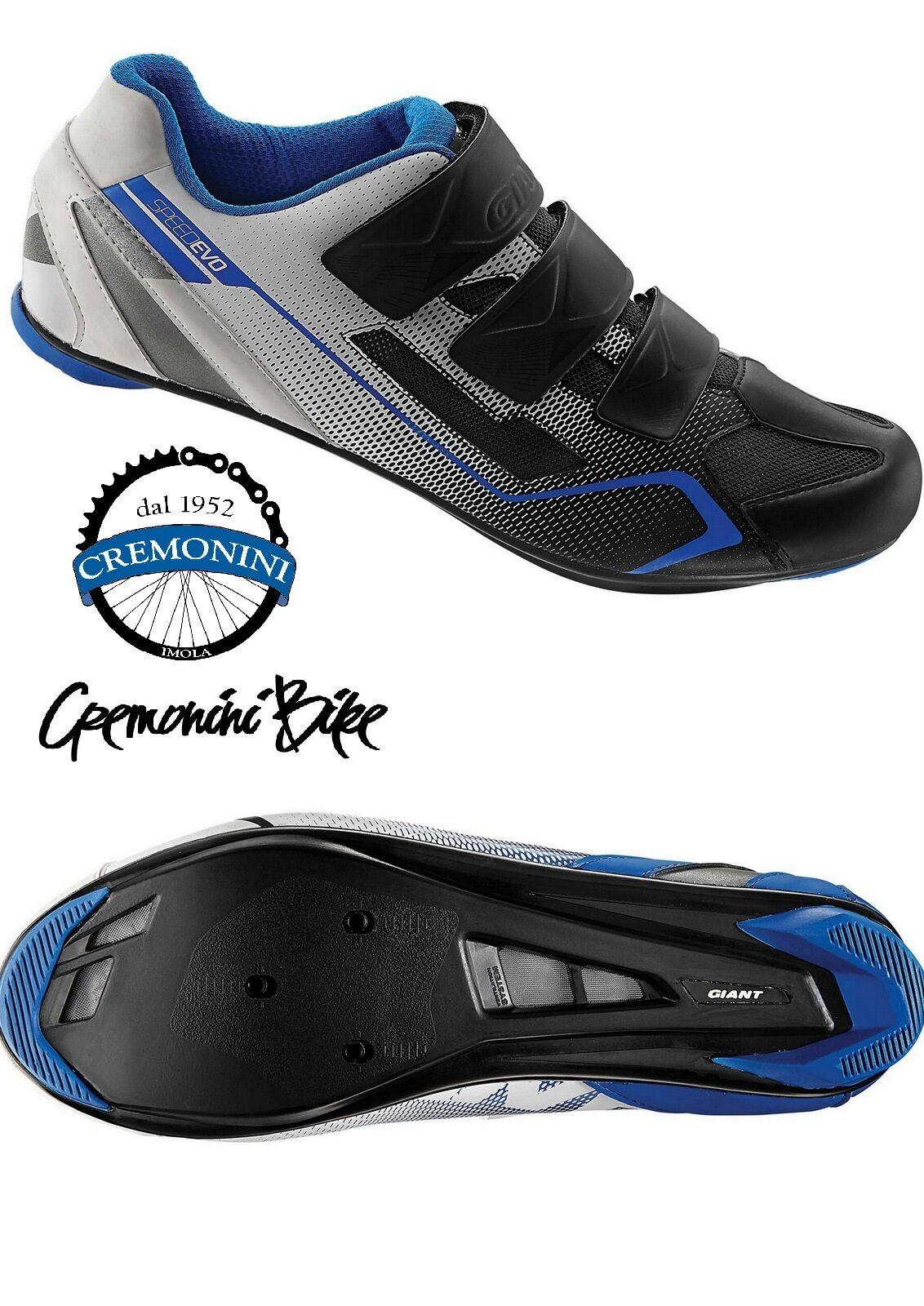GIANT scarpe ciclismo bici corsa uomo man bike road scarpe BOLT 3 fori blu nere