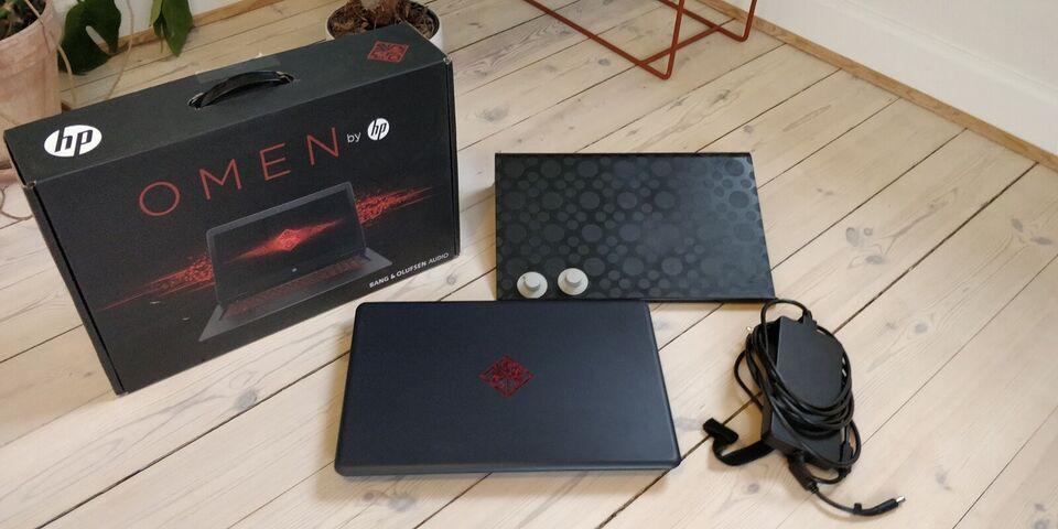 HP Omen, GTX 1070 og I7 processor, 17-w104no