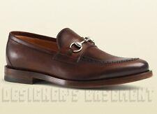 GUCCI men 7* brown PIERRE Brogue leather HORSEBIT Loafers shoes NIB Authent $850