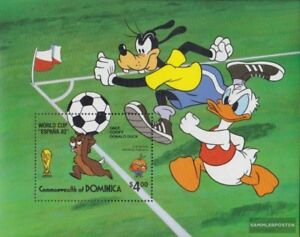 Postfrisch 1982 Walt-disney-figuren Waterproof Shock-Resistant And Antimagnetic Dominica Block73 kompl.ausg.
