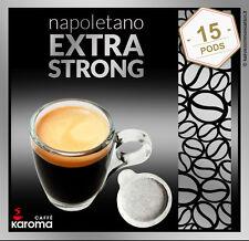 15 Italian Espresso Pods ESE. Karoma (Napoletano) EXTRA STRONG! NEW ITEM!
