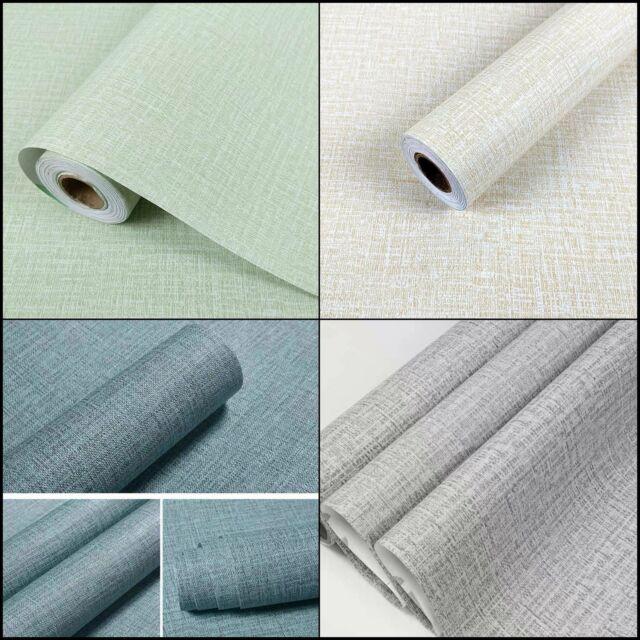 Faux Grasscloth Peel Stick Wallpaper Fabric Self-Adhesive