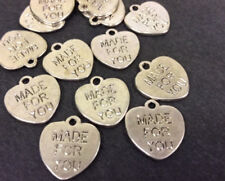 pk10 TB37 /'Made For You/' Silver Plated Metal Charm