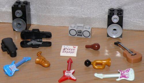 SAXO TROMPETTE GUITARE NEUF ! MINIFIGURES LEGO Instruments de Musique