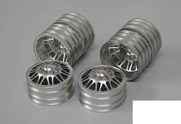 2  GUAI Double Dually in alluminio 1.9  RUOTE RC4WD Z-W0063 12mm Hex RC