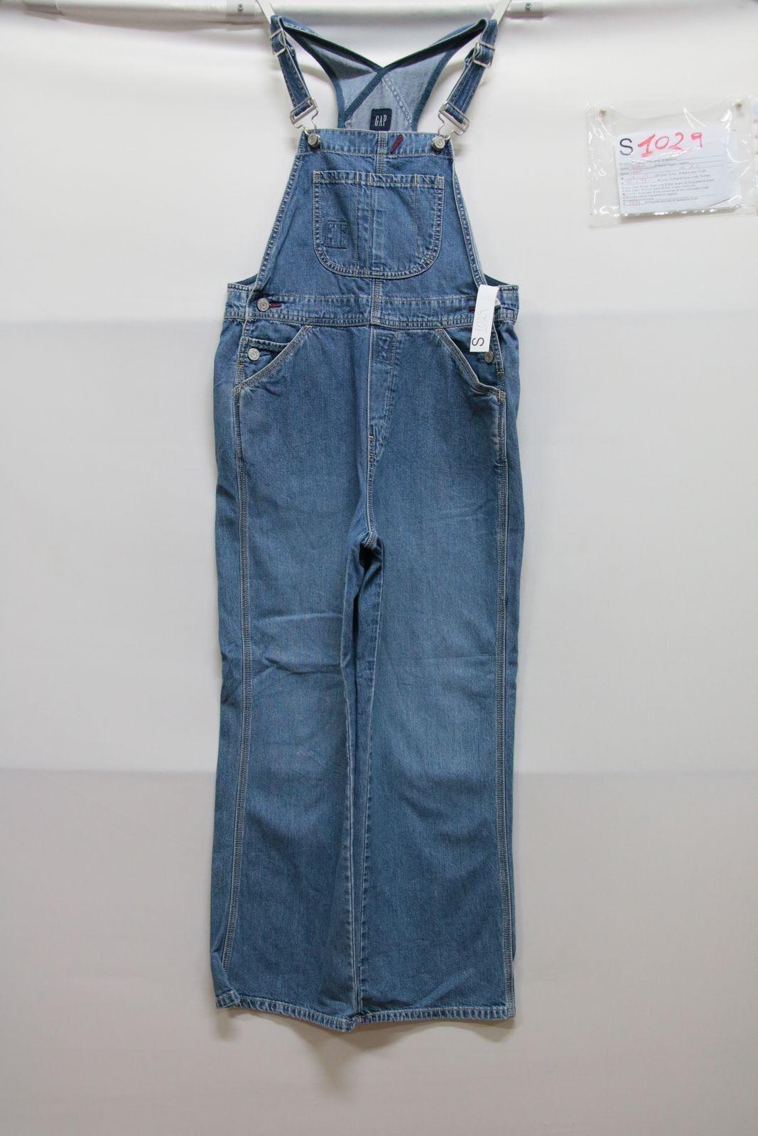 Salopette GAP (Cod. S1029) Tg XS jeans usato vintage Streetwear salopet