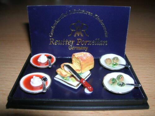 Reutter porcelana buñuelos /& sopa de tomate dumpling /& Tomato Soup muñecas Tube 1:12