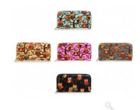 Ladies Girls Purse - Owl Print Ziparound Design - Choose Colour - Brand New
