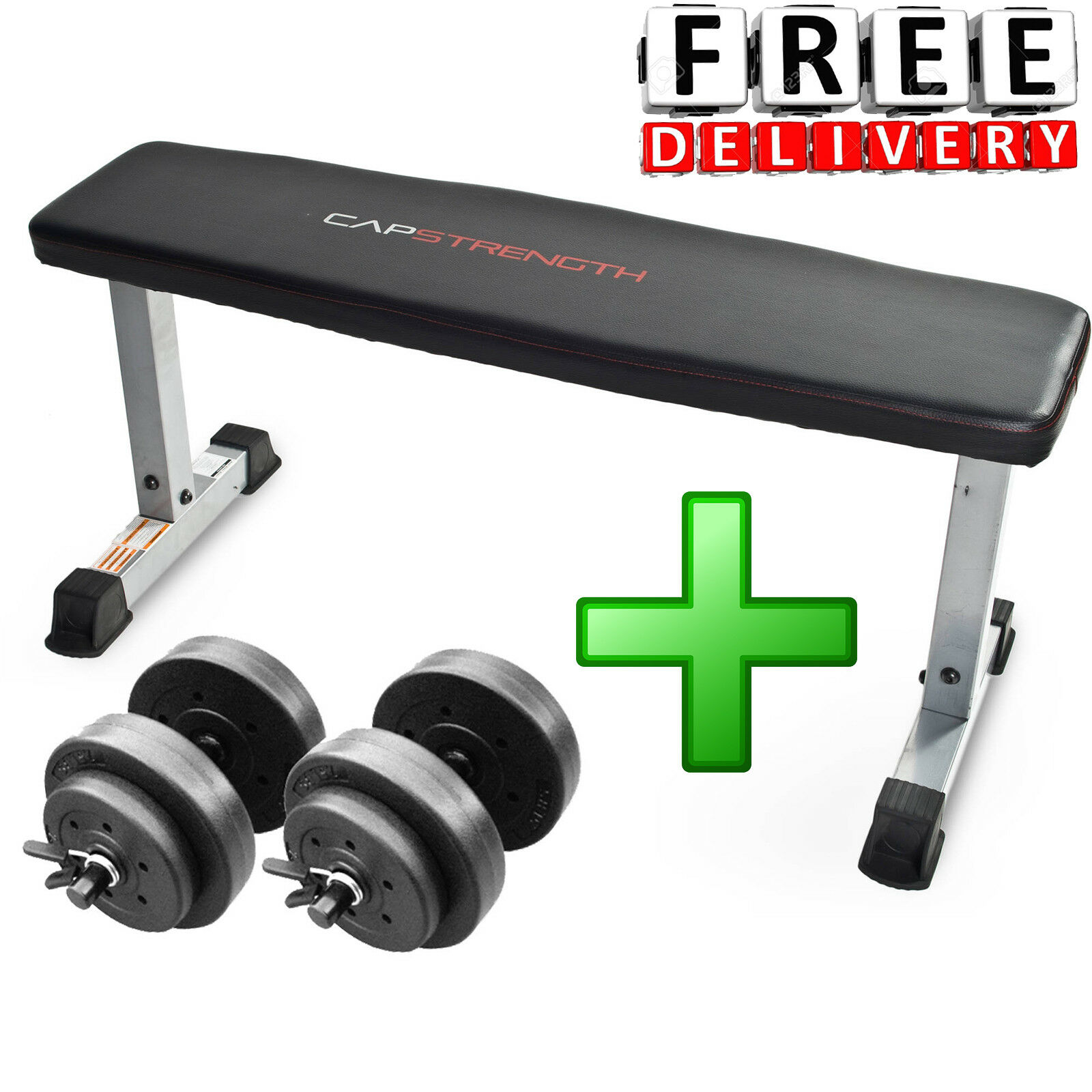 Dumbbell Set With Bench Home Gym Adjustable Fitness Equipment Exercise Workout
