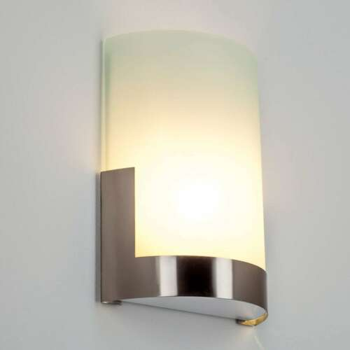 Wandleuchte Karla Wandlampe Glas Glasschirm Nickel matt Innenleuchte Lampenwelt