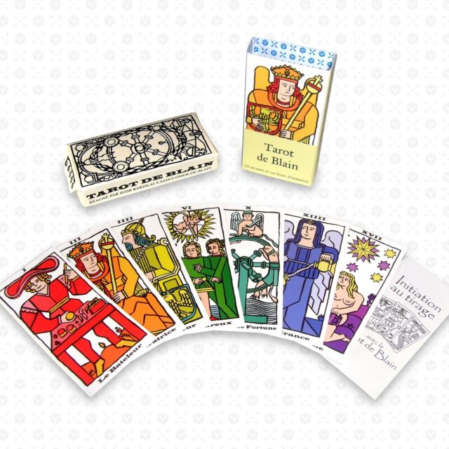 Tarot de Blain et livret initiation (style Marseille 22 arcanes) mini pocket