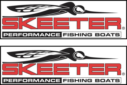 2 Skeeter Boat Decals  FREE SHIPPING