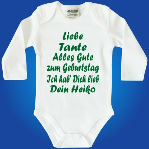 Baby Body Geburtstag Papa Mama Oma Opa Tante Strampler Baby Bodie MIT Wunschname