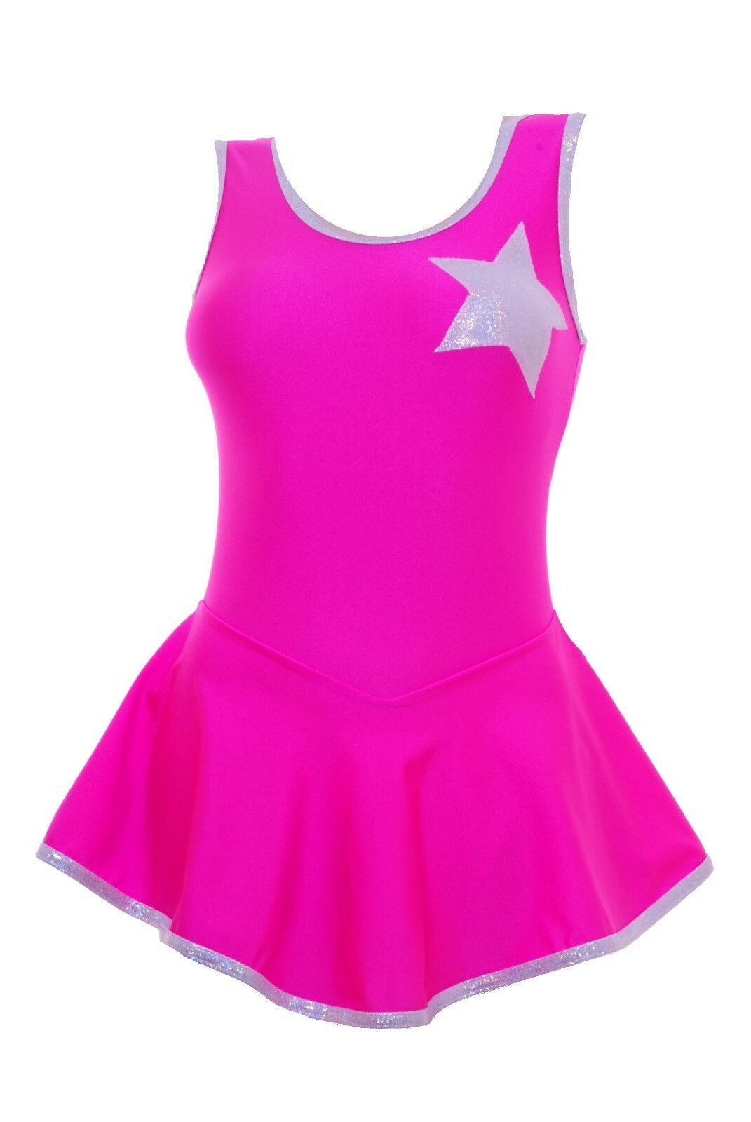 Skating Dress - Pink HologramStar   Toffee pink Lycra - ALL SIZES AVAILABLE