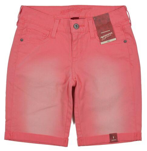 Arizona Jean Co NEW Women/'s Junior Coral Colored Denim Shorts