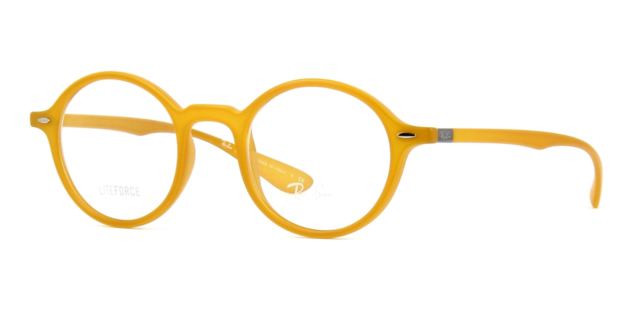 Authentic Ray Ban RX7069 5519 Eyeglasses Yellow w Demo Lens *NEW* 46mm