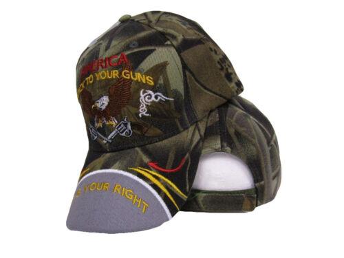 2nd Amendment America Stick to your Guns It/'s your right Camo Cap Hat RIOHIO